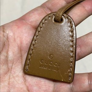 Authentic leather Gucci tag